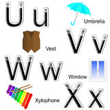 Glossy letters-stickers. Stock Photos