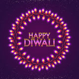 Glossy Lights for Diwali Celebration. Beautiful festive circular border made by decorative lightings, Vector elegant illustration for Indian Festival of Lights Royalty Free Stock Image