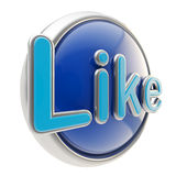 Glossy like button symbol isolated Royalty Free Stock Image