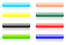 Glossy line button vector Stock Photos