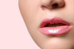 Glossy lips Royalty Free Stock Photo