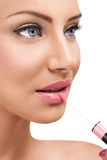 Glossy lips Stock Photography