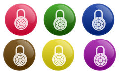Glossy Lock Button Royalty Free Stock Photos