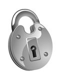 Glossy lock icon Royalty Free Stock Photography