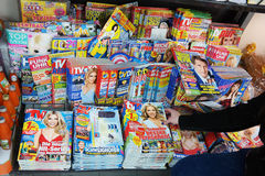 Glossy magazines Royalty Free Stock Images
