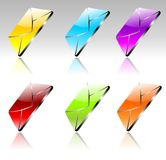 Glossy mail set vector Royalty Free Stock Image