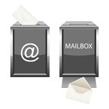 Glossy mailbox with envelope for your design Stock Photo