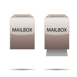 Glossy mailbox for your design Royalty Free Stock Photography
