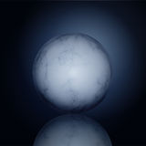 Glossy marble ball Royalty Free Stock Photo