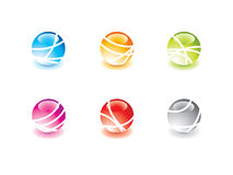Glossy marbles Stock Image