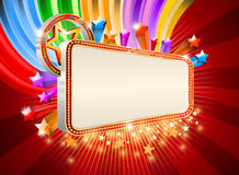 Glossy marquee with colorful stars Stock Image