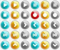 Glossy Media Buttons Royalty Free Stock Images