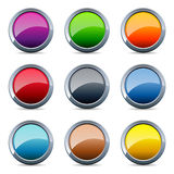Glossy metal buttons Royalty Free Stock Photography
