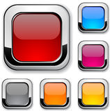 Glossy metallic buttons. Royalty Free Stock Photography