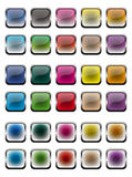 Glossy metallic buttons Royalty Free Stock Images