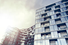 Glossy modern apartment building Stock Photography