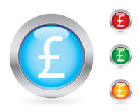 Glossy money button set. More sets in my portfolio Royalty Free Stock Photo