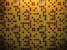 Glossy mosaic ceramic tiles. Colorful glossy mosaic ceramic tiles wall with above light for interior or exterior design Stock Image