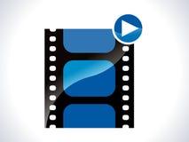 Glossy movie icon Stock Photo