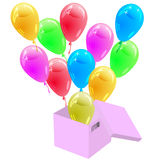 Glossy multicolored balloons Royalty Free Stock Images