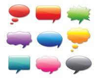 Glossy multicolored talk bubbles stock illustration