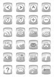 Glossy multimedia icon set Stock Photo