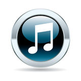 Glossy music button Stock Photography