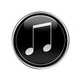 Glossy music button Royalty Free Stock Image