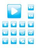 Glossy music button set royalty free illustration