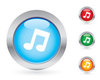 Glossy music button set Royalty Free Stock Photography