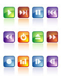 Glossy music buttons Stock Photography