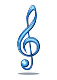 Glossy music note Royalty Free Stock Images