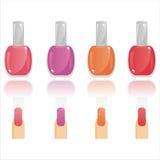 Glossy Nail Polish And Nails Stock Photos