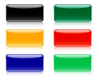 Glossy navigation bars, buttons Stock Photography