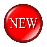 Glossy new icon Royalty Free Stock Photo