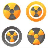Glossy nuclear signs Royalty Free Stock Photo