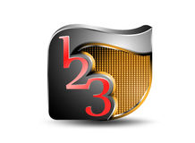 Glossy number icon Royalty Free Stock Photos