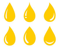 Glossy oil drops set Royalty Free Stock Images