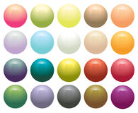 Glossy Opaque circular buttons. Isolated on white Royalty Free Stock Photos