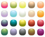 Glossy Opaque square buttons. Isolated on white Royalty Free Stock Images