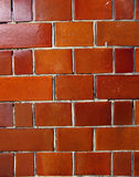 Glossy orange brick wall Stock Images