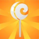 Glossy orange lollipop background Stock Photos
