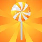 Glossy orange lollipop background Stock Photography