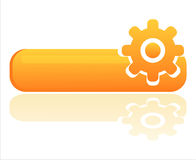 Glossy orange settings banner Royalty Free Stock Photo