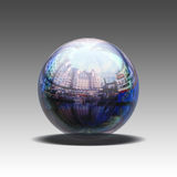 Glossy Orb. An illustration of a photo enclosed in a glossy orb Stock Photo