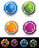 Glossy orb button. Set ,colorful illustration for web Stock Photos