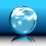Glossy orb button stock illustration