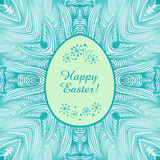 Glossy ornamental lace banner,  easter background. Easter original card Stock Photos