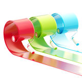 Glossy paint rollers with strokes Stock Image