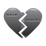 Best Friend Heart Royalty Free Stock Images